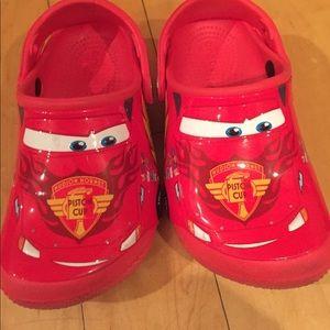 ebf9c0d454ab7d CROCS Shoes - Lightning McQueen CROCS size 10 toddler