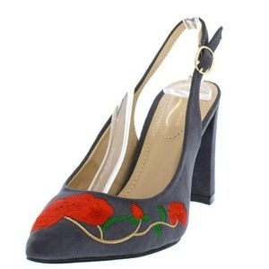 """Shoes - Sale🎈NWT. GRAYSUEDE""""🌹 RED ROSE 🌹"""" SLINGBACK"""