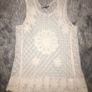 Alt B Tops - Alt B cream lace tank