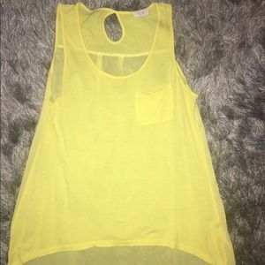 Tops - Bright yellow hi-low tank