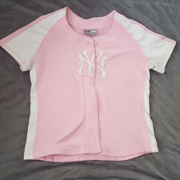 the latest ff1e9 2e9a8 Nike New York Yankees pink baseball jersey