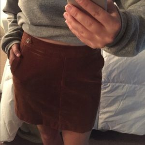 Corduroy Brown Orange Banana Republic Skirt