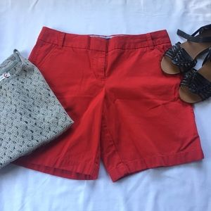 "NWOT J Crew Red 9"" Chino Bermuda Shorts"