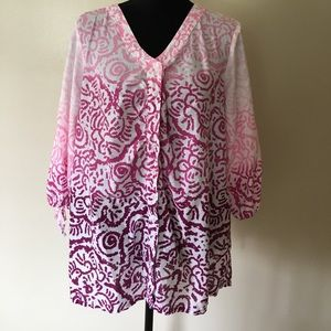 Just My Size Tops - Ombré Cotton Tunic 16w