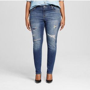 Ava & Viv Denim - Distressed Skinny Jeans