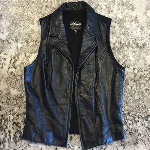 Wilsons Leather Jackets & Blazers - Wilsons Leather Maxima Zip Moto Biker Vintage Vest