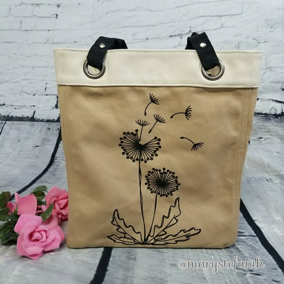 {New} Thirty One 31 Dandelions Canvas Storage Tote