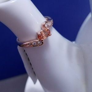 Jewelry - 18K Gold Plated Orange Australian Crystal Ring