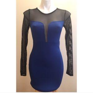 Cute Blue and Black Mini Dress! Forever 21