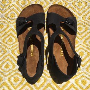 Birkenstock Shoes - Black Birk-ish Sandals