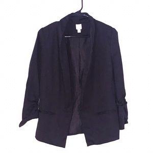 LC Lauren Conrad Perfect Silk Black Blazer