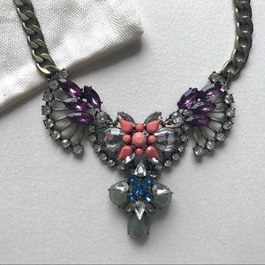 J.crew butterfly gem statement necklace