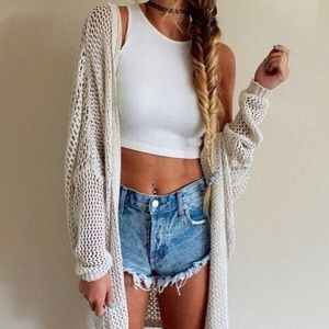Brandy Melville Sweaters - Brandy Melville Rare Summer Moselle Cardigan