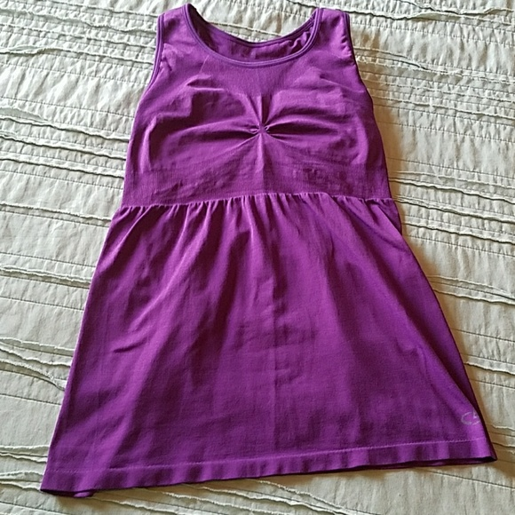 Champion Purple Workout Top With Built In Bra From
