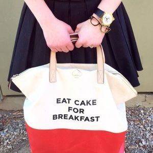 NEW Kate Spade Eat Cake For Breakfast Bag