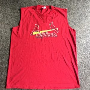 Majestic cardinals bb tshirt sz 2xl
