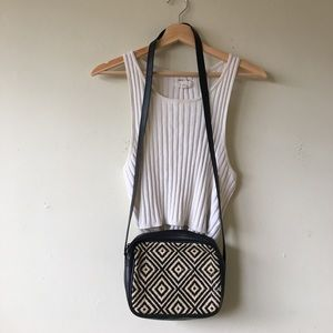 Handbags - Vintage Boho Pattern Black Crossbody Bag