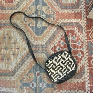 Handbags - Vintage Boho Black Vegan Leather Crossbody Bag