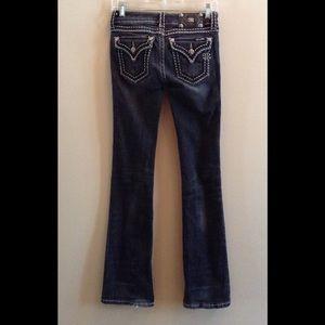 Miss Me Black Flap Pocket Boot Cut Jeans Sz 26