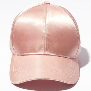 Satin Pink Baseball Cap