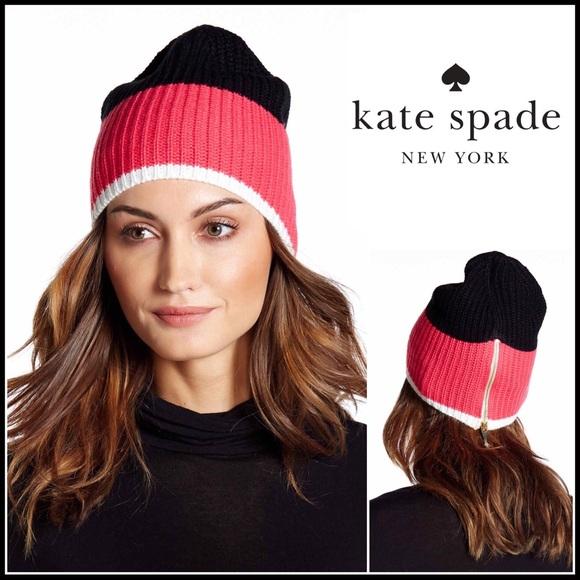 6f479c6fc647 kate spade Accessories | Zip Up Beanie Knit Hat | Poshmark