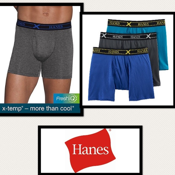 182329f87b34 Hanes Underwear & Socks | Mens Ultimate Xtemp Air Boxer Briefs ...