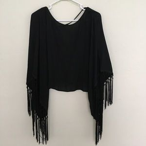Unlisted Tops - Batwing Black Blouse