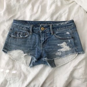 American Eagle Destroyed Shorts