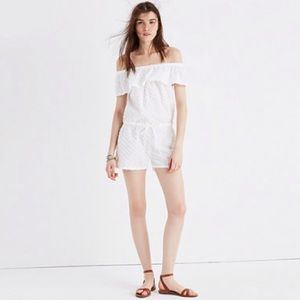 Madewell Pants - Madewell White Off-the-Shoulder Cover-Up Romper