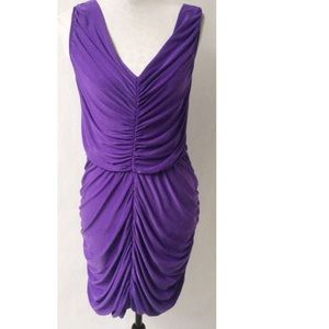 Purple Bodycon Dress Size Large
