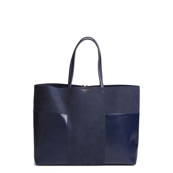 Block-T Large Tote. Navy Blue. c60bde291f74d