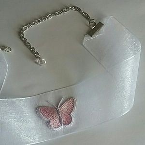 Poetry in Motion Jewelry - Butterfly on Organza Ribbon