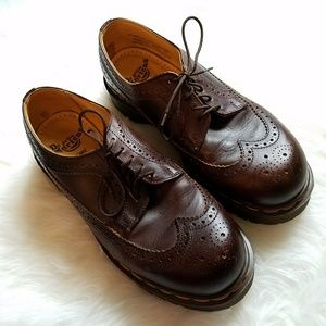 Dr. Martens Other - DR. MARTENS Leather Wingtip Lace Oxfords Size 8