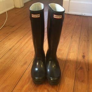 Tall Black Hunter Rain Boots