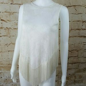 American Vintage Tops - American Vintage gorgeous Lace and fringed top