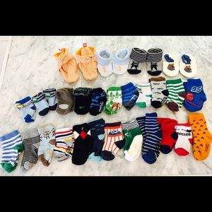 Other - ✨Lot 27 of Baby Boy Socks and Booties✨