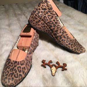 Mephisto Shoes - Mephisto Gazelle Leopard Print Wedges Heels Shoes