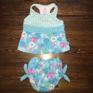 I Play Other - 2pc tankini toddler girl swimsuit
