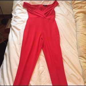 Missguided + Pants - New Missguided Red Jumpsuit Size 10