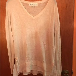 White long sweater