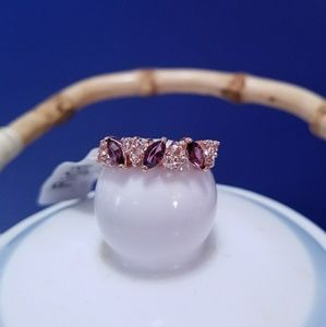 Jewelry - 18K Gold Plated Violet Crystal Ring