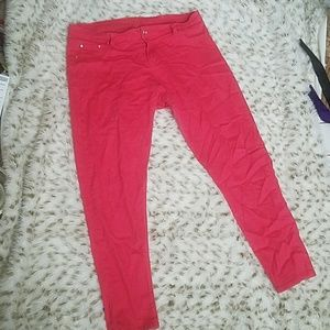 Reign Denim - Pink coral jeggings