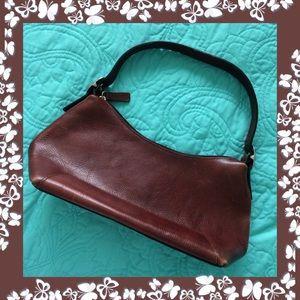 Wilsons Leather Handbags - Wilson's / Brown Leather Bag / Vintage