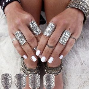 Child of Wild Jewelry - Boho gypsy 4 pc engraved ring set⚡️