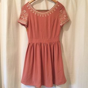 ✨mosaic collar boutique party dress