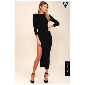 Lulus Dresses & Skirts - NWT Thigh Slit Bodycon Dress
