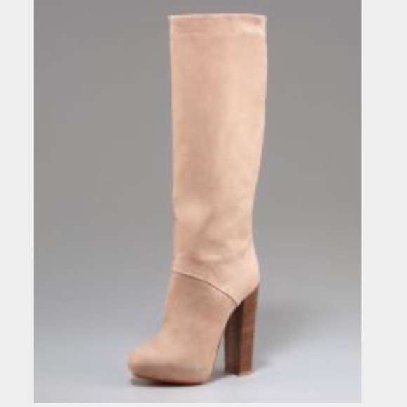 B Brian Atwood Nubuck Platform Boots supply online g3F53g2MpG