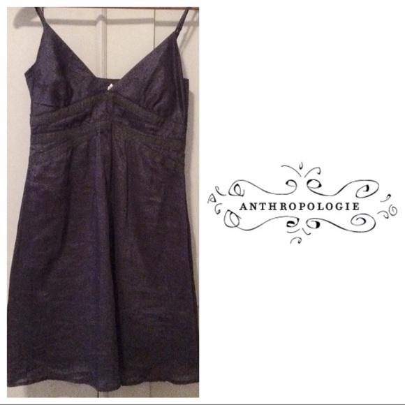 Anthropologie Dresses & Skirts - Anthropologie Slip Dress Navy Ribboned