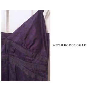 Anthropologie Dresses - Anthropologie Slip Dress Navy Ribboned