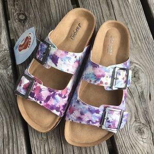 Jambu Shoes - 🆕List! J-Sport Floral Leather Cork Sandals! NEW!